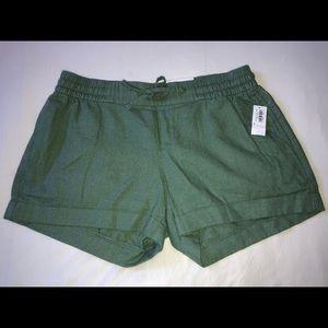 Mid-Rise Linen-Blend Shorts for Women